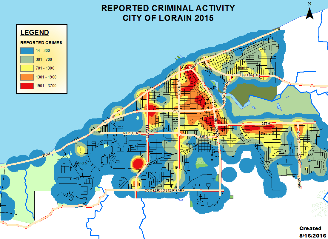 Crime Statistics Lorain Police Department - Us crime map 2015