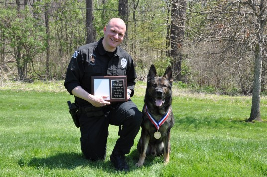 Officer Craig Payne and K9 Kriss